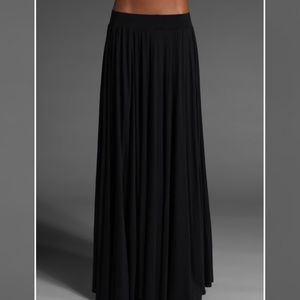 Rachel Pally Seam Rib Maxi Skirt in Black